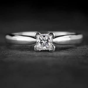 """Sužadėtuvių žiedas su Deimantu """"Princess 73"""""""