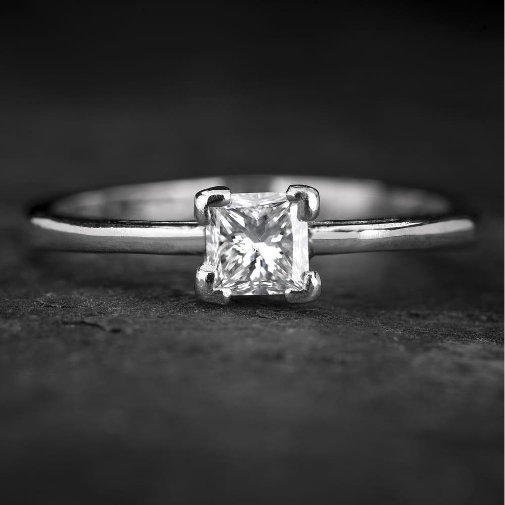 """Sužadėtuvių žiedas su Deimantu """"Princess 75"""""""