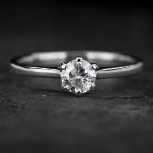 """Sužadėtuvių žiedas su Briliantu """"The Goddess 54"""""""
