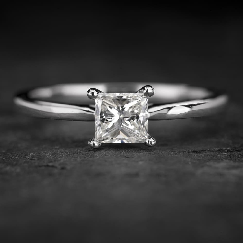 """Sužadėtuvių žiedas su Deimantu """"Princess 76"""""""