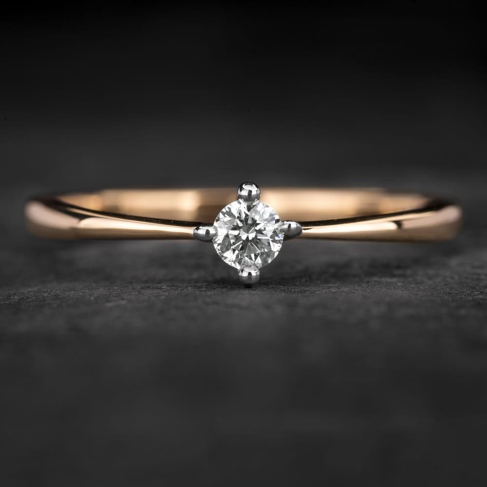 """Sužadėtuvių žiedas su Briliantu """"The Goddess 55"""""""