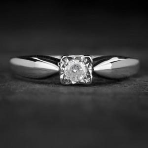 """Sužadėtuvių žiedas su Briliantu """"The Sun 52"""""""