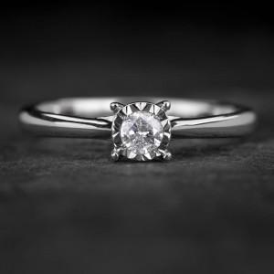 """Sužadėtuvių žiedas su Briliantu """"The Sun 53"""""""