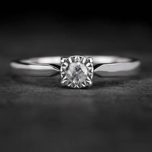 """Sužadėtuvių žiedas su Briliantu """"The Sun 54"""""""
