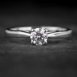 """Sužadėtuvių žiedas su Briliantu """"The Goddess 57"""""""