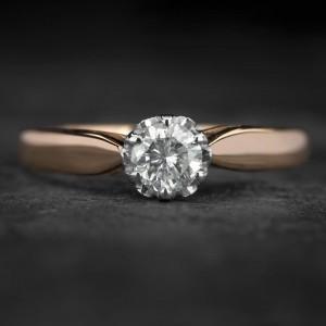 """Sužadėtuvių žiedas su Briliantu """"Kunigaikštytė 78"""""""