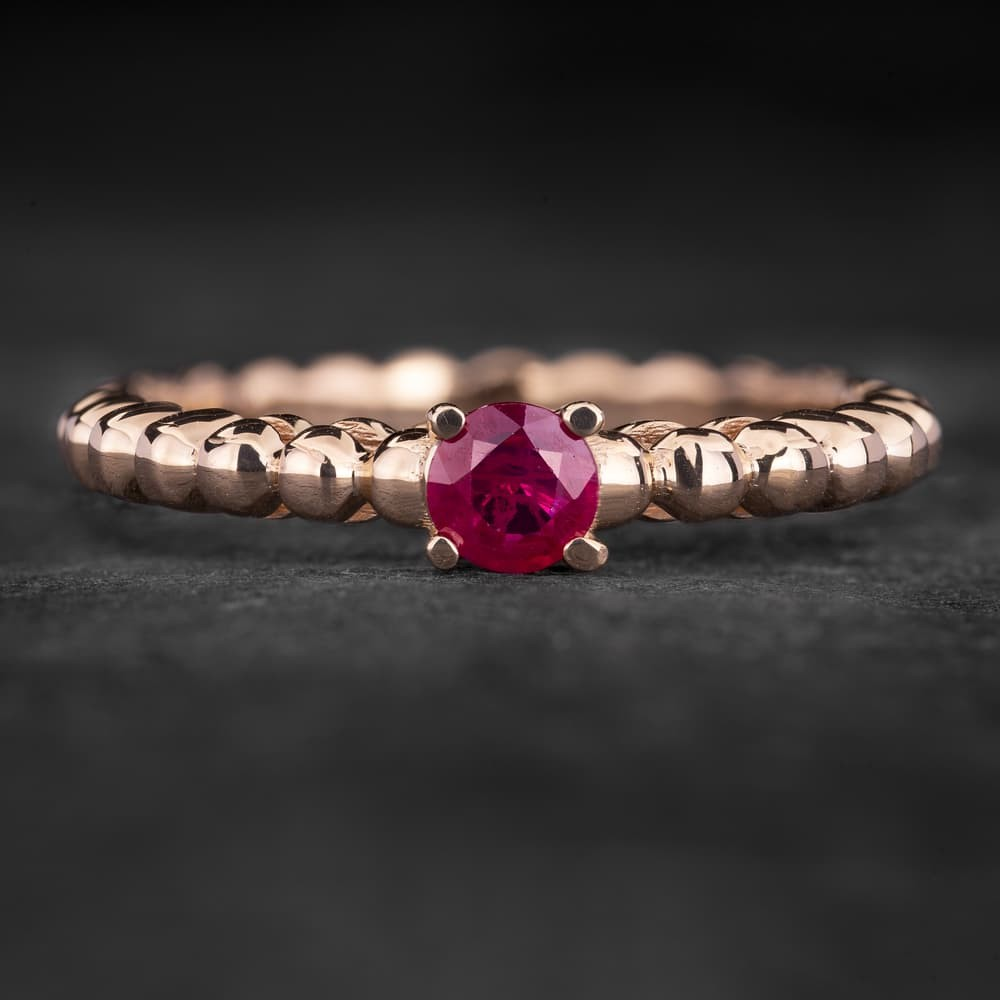 """Sužadėtuvių žiedas su Rubinu """"The Flower of Ruby 5"""""""