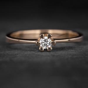 """Sužadėtuvių žiedas su Briliantu """"Classic 27"""""""