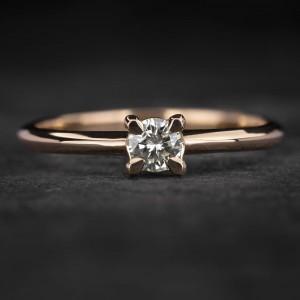 """Sužadėtuvių žiedas su Briliantu """"The Goddess 59"""""""