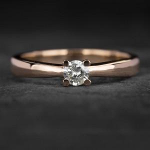 """Sužadėtuvių žiedas su Briliantu """"The Best 24"""""""