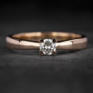 """Sužadėtuvių žiedas su Briliantu """"The Best 25"""""""