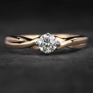 """Sužadėtuvių žiedas su Briliantu """"Fortune 43"""""""