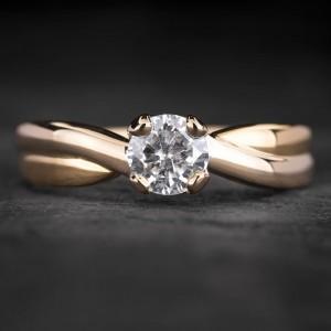"""Sužadėtuvių žiedas su Briliantu """"Fortune 44"""""""