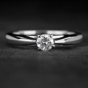 """Sužadėtuvių žiedas su Briliantu """"Fortune 46"""""""