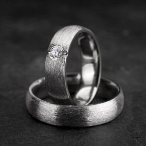 """Vestuviniai žiedai su Briliantu """"Klasika 3-1"""""""