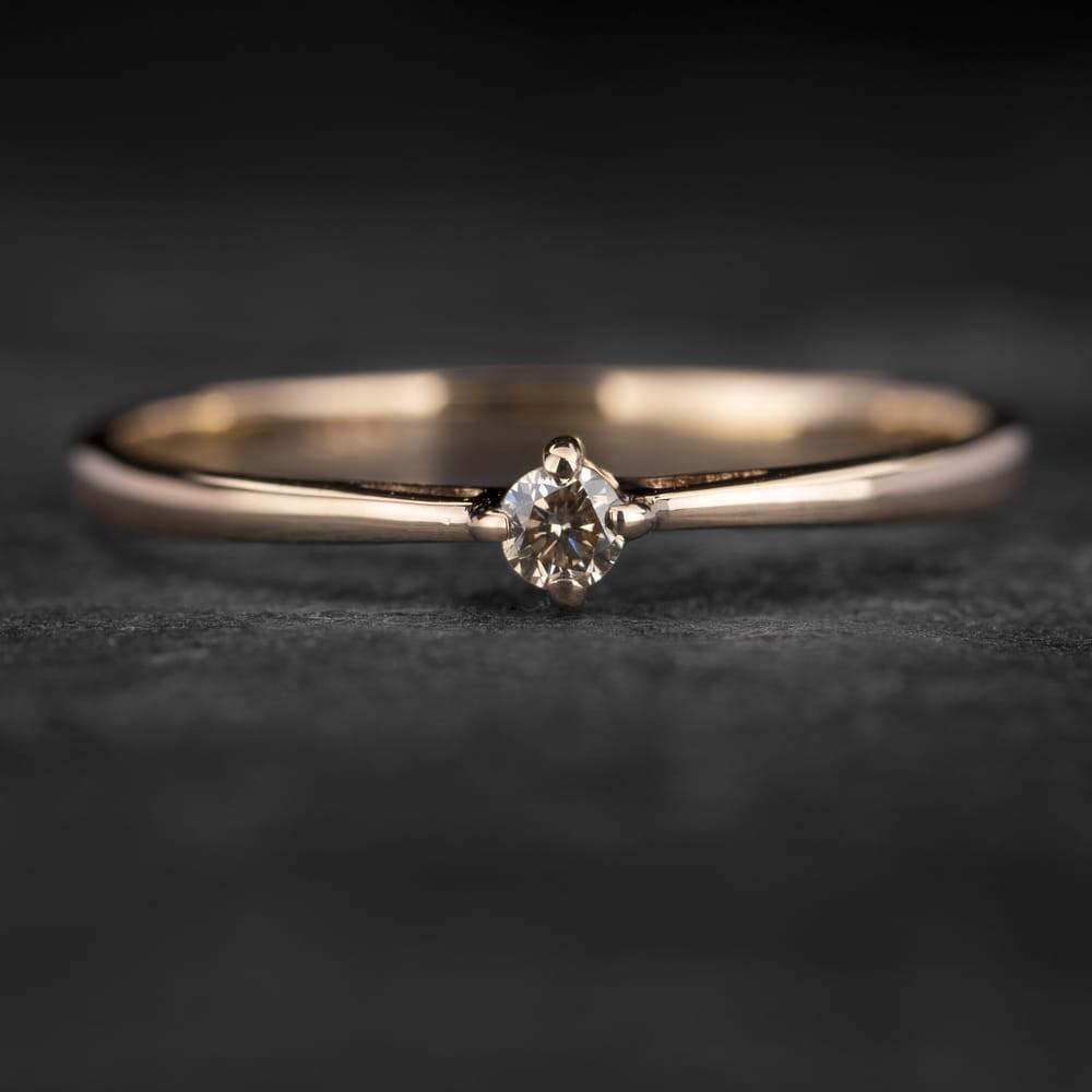 """Sužadėtuvių žiedas su Briliantu """"Santūrumas 19"""""""