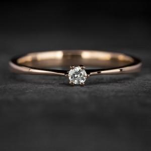 """Sužadėtuvių žiedas su Briliantu """"Classic 26"""""""