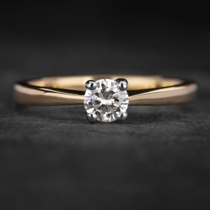 """Sužadėtuvių žiedas su Briliantu """"The Diamond 66"""""""