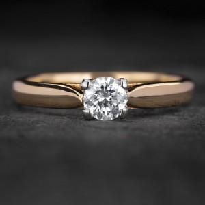 """Sužadėtuvių žiedas su Briliantu """"The Goddess 61"""""""