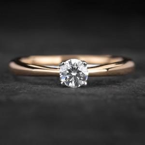 """Sužadėtuvių žiedas su Briliantu """"Two Hearts 9"""""""