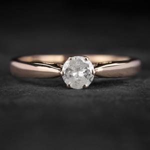 """Sužadėtuvių žiedas su Briliantu """"Kunigaikštytė 84"""""""
