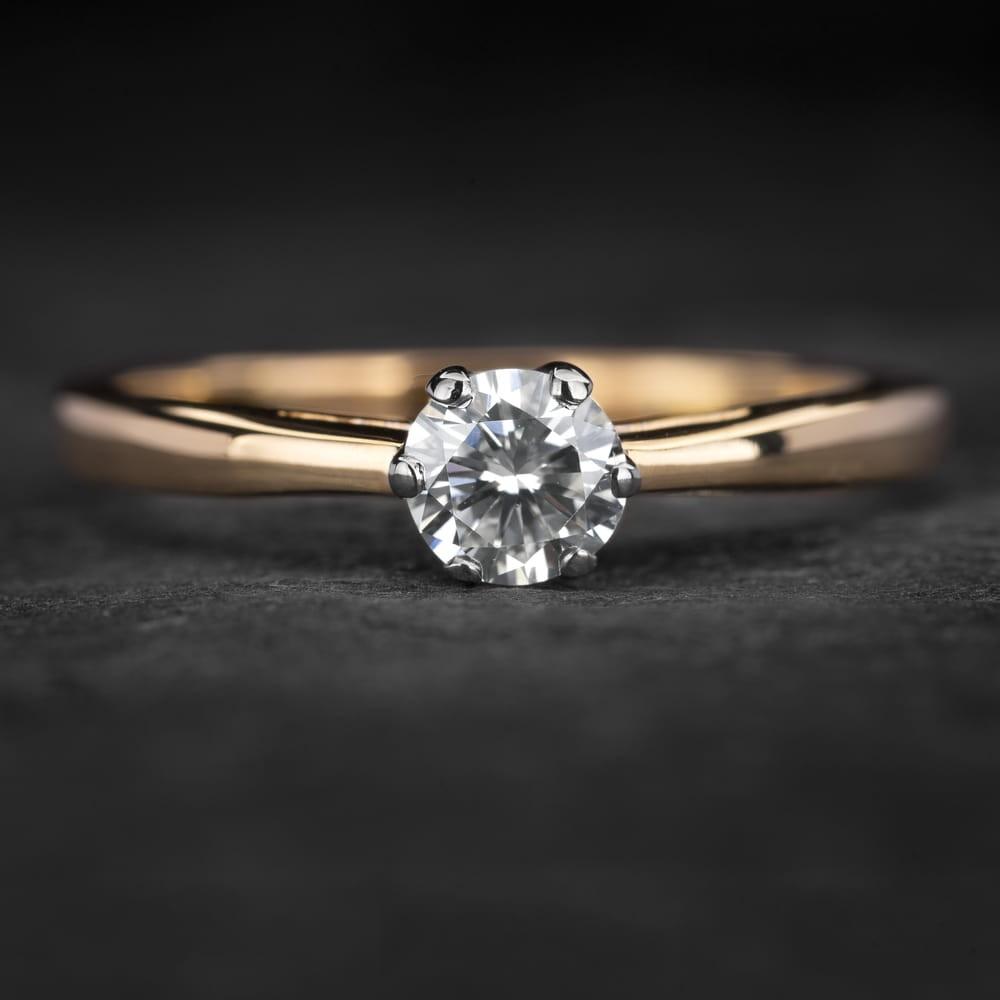 """Sužadėtuvių žiedas su Briliantu """"Kunigaikštytė 86"""""""
