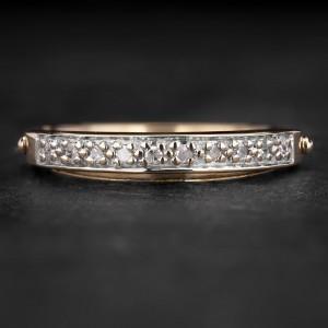"""Auksinis žiedas su Briliantais """"Deimantinė Juostelė 38"""""""