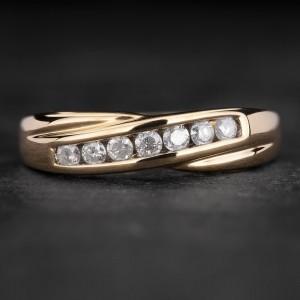 """Auksinis žiedas su Briliantais """"Deimantinė Juostelė 39"""""""