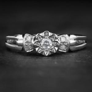 """Sužadėtuvių žiedas su Deimantais """"The Sun 59"""""""