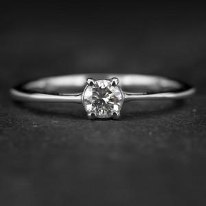 """Sužadėtuvių žiedas su Briliantu """"The Goddess 63"""""""