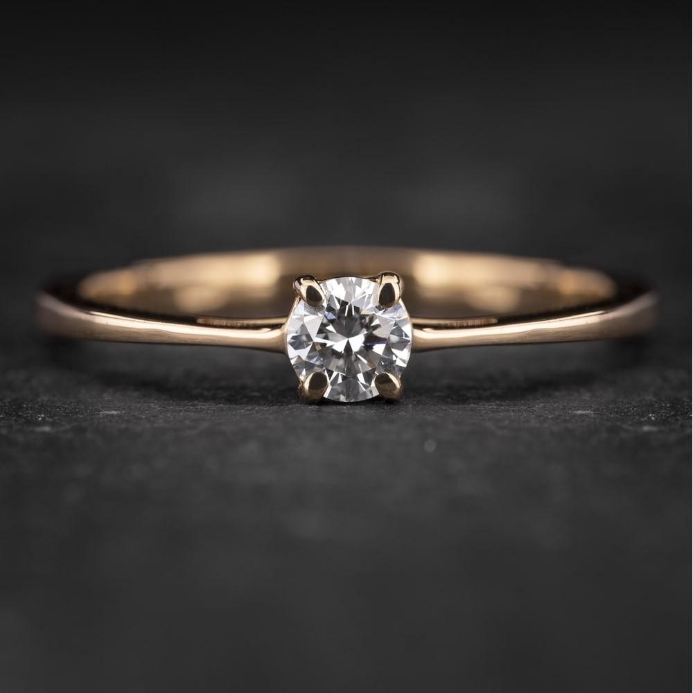 """Sužadėtuvių žiedas su Briliantu """"The Goddess 64"""""""