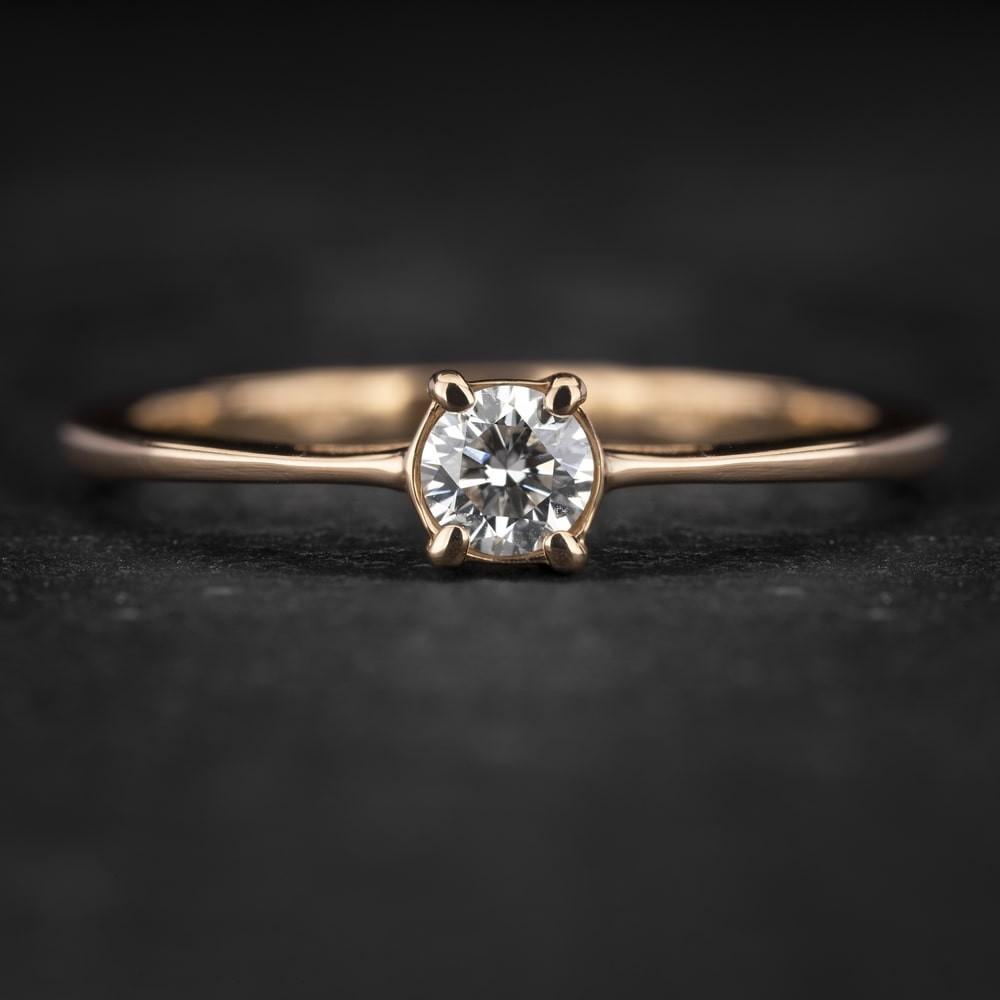 """Sužadėtuvių žiedas su Briliantu """"The Goddess 65"""""""