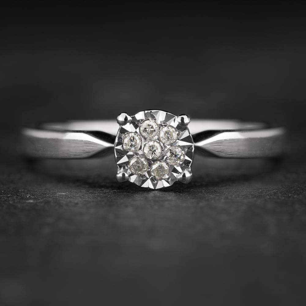 """Sužadėtuvių žiedas su Briliantu """"Shiny Bunch 36"""""""