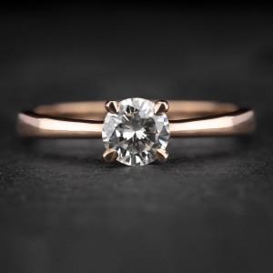 """Sužadėtuvių žiedas su Briliantu """"The Goddess 66"""""""