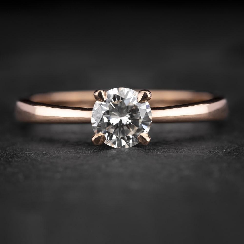 """Sužadėtuvių žiedas su Briliantu """"The Goddess 67"""""""
