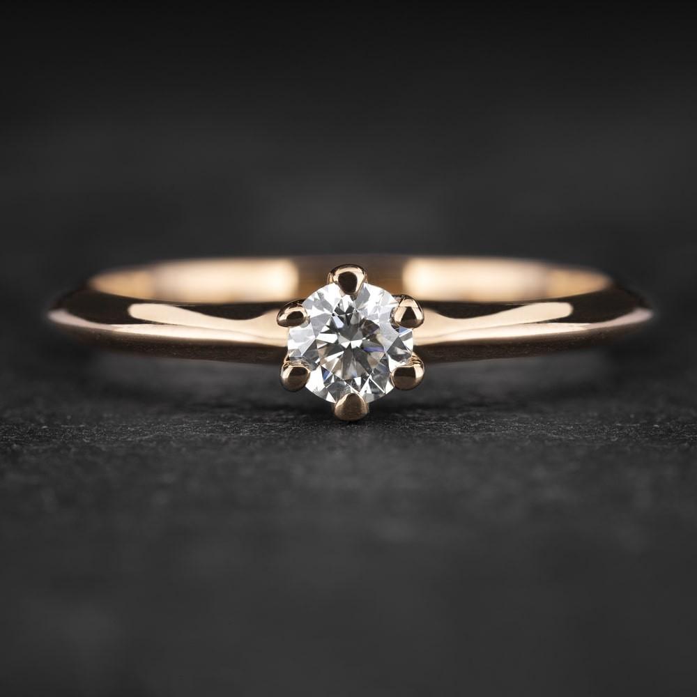 """Sužadėtuvių žiedas su Briliantu """"The Best 29"""""""