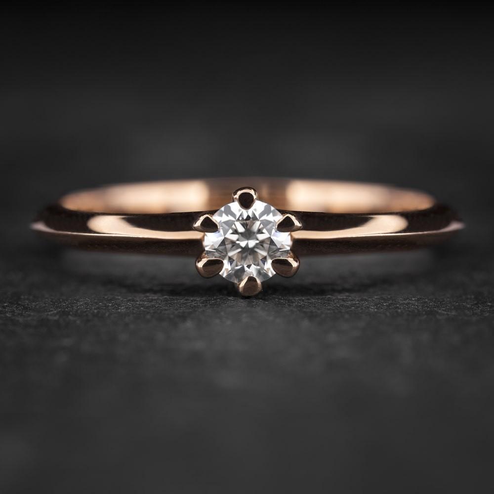 """Sužadėtuvių žiedas su Briliantu """"The Best 30"""""""