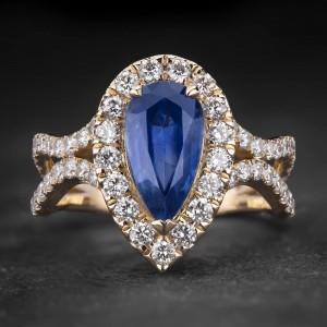 """Auksinis žiedas su Brangakmeniais """"Tiara 28"""""""