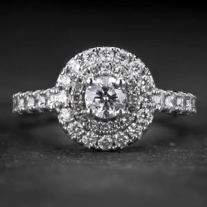 """Auksinis žiedas su Briliantais """"Tiara 31"""""""