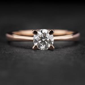 """Sužadėtuvių žiedas su Briliantu """"The Goddess 70"""""""