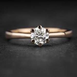 """Sužadėtuvių žiedas su Briliantu """"The Only One 32"""""""
