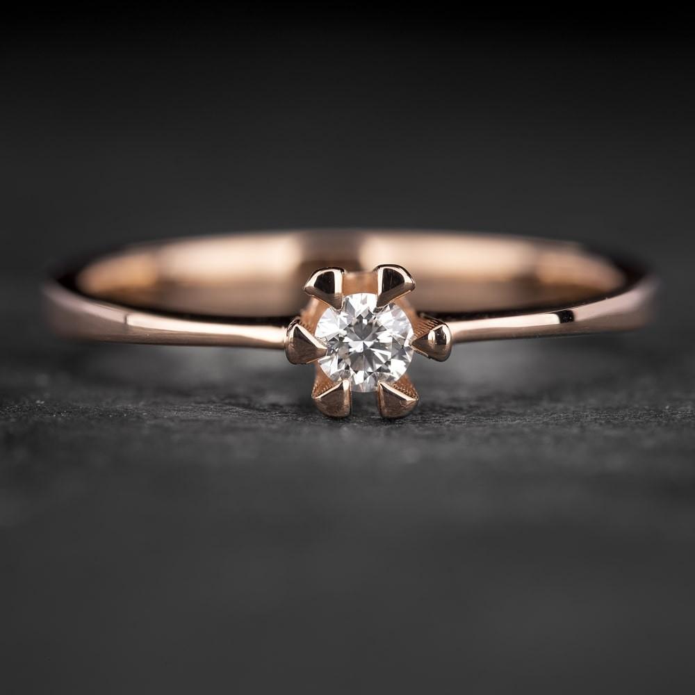 """Sužadėtuvių žiedas su Briliantu """"Classic 32"""""""