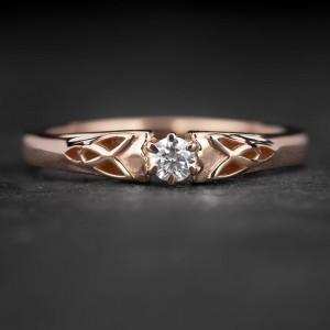 """Sužadėtuvių žiedas su Briliantu """"Fortune 51"""""""