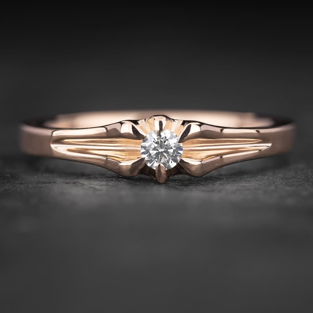"""Sužadėtuvių žiedas su Briliantu """"Energy 5"""""""