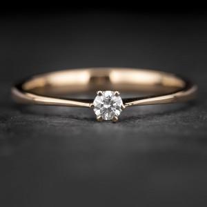 """Sužadėtuvių žiedas su Briliantu """"Classic 34"""""""