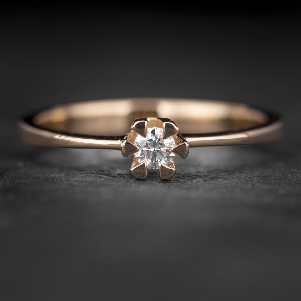 """Sužadėtuvių žiedas su Briliantu """"Classic 35"""""""