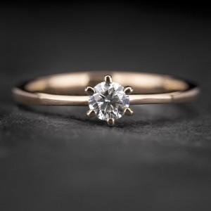 """Sužadėtuvių žiedas su Briliantu """"Classic 36"""""""