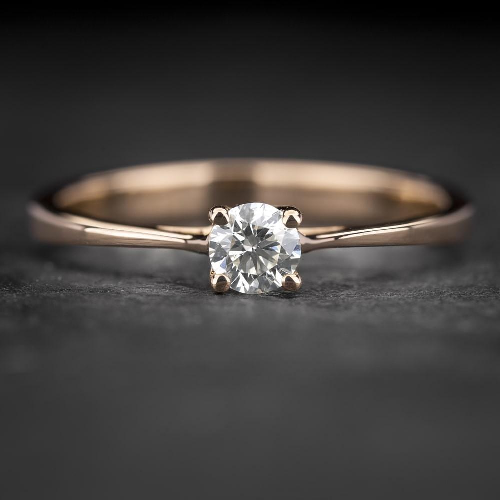"""Sužadėtuvių žiedas su Briliantu """"The Diamond 68"""""""