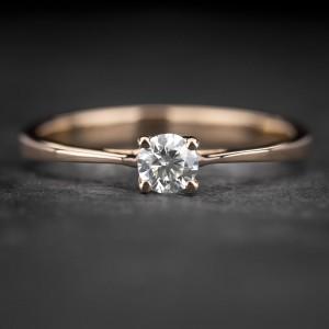 """Sužadėtuvių žiedas su Briliantu """"The Diamond 70"""""""