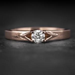 """Sužadėtuvių žiedas su Briliantu """"Energy 6"""""""